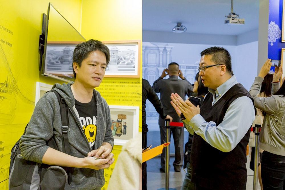 從事多媒體互動設計的郭志強總監(左);對古建築多有研究的陳冠燁博士(右)現場與瘋...