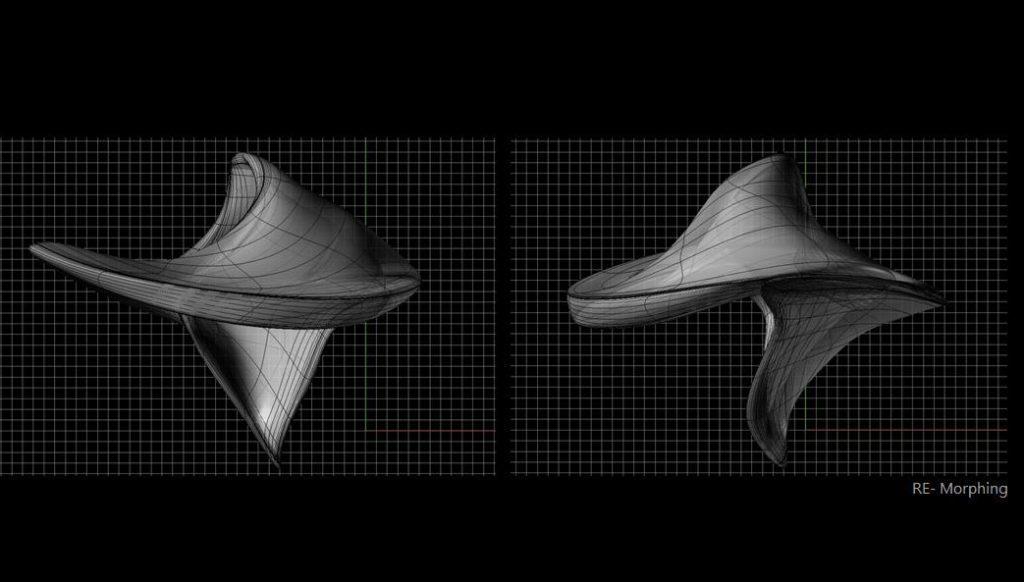 集風器 雕塑模型3D示意圖