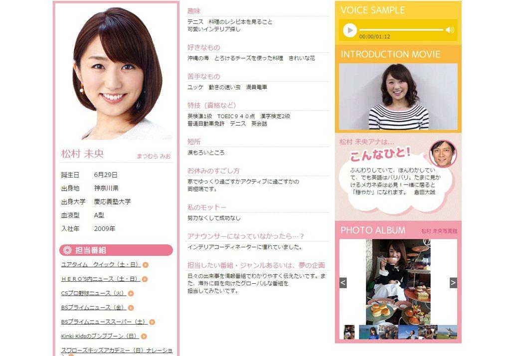 藤原紀香前夫陣內智則將再婚,對象是富士電視台美女主播松村未央。(圖片翻攝富士電視