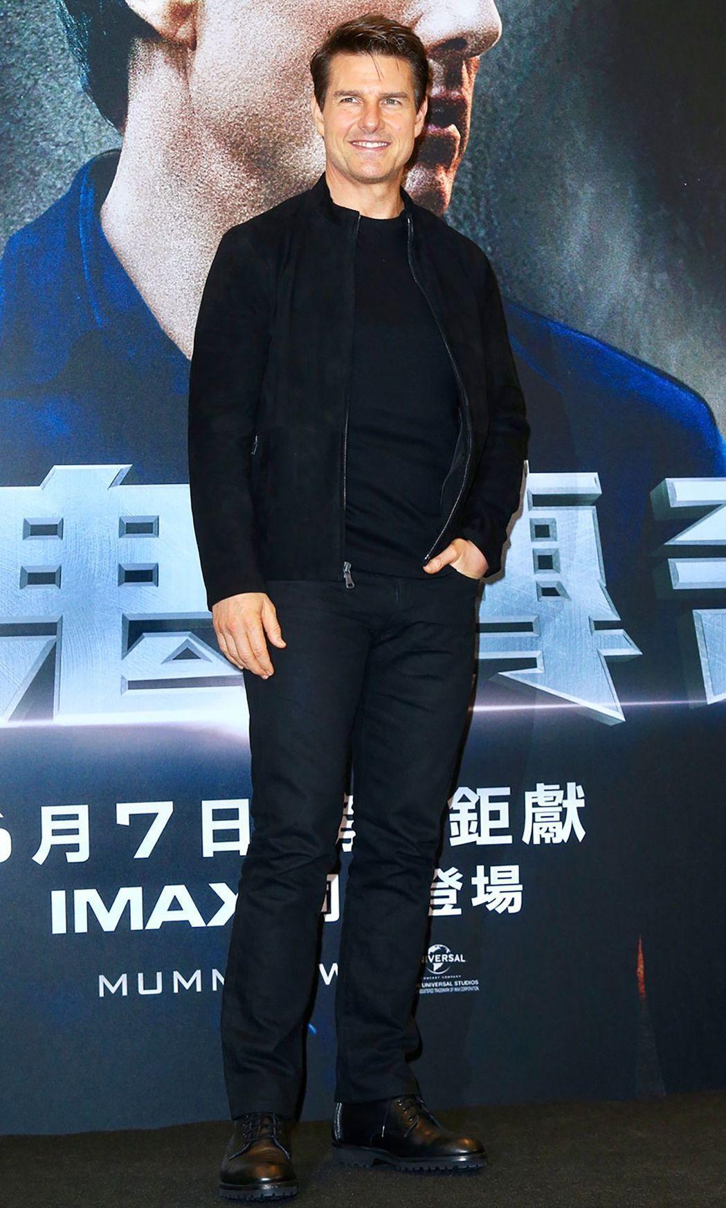 巨星湯姆克魯斯昨日旋風訪台參加「神鬼傳奇」宣傳活動。記者林伯東/攝影