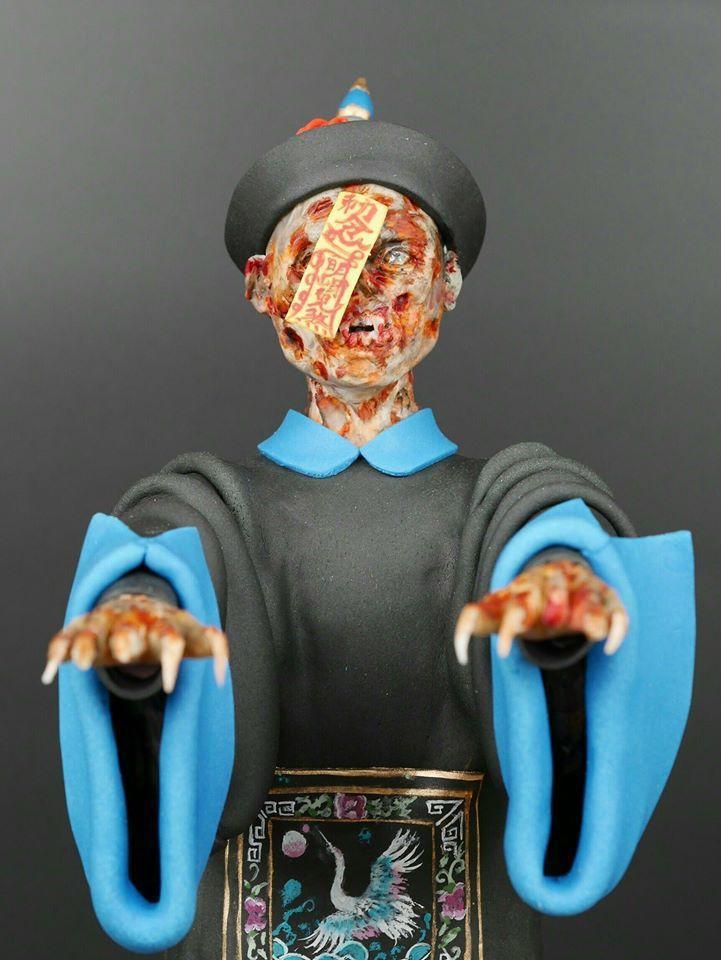 蔡依林做的殭屍栩栩如生。圖/摘自臉書