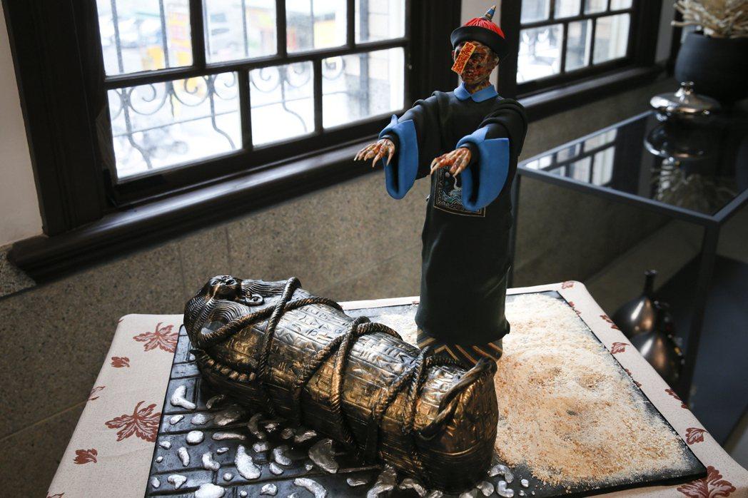 蔡依林做的古棺和殭屍栩栩如生。圖/凌時差提供