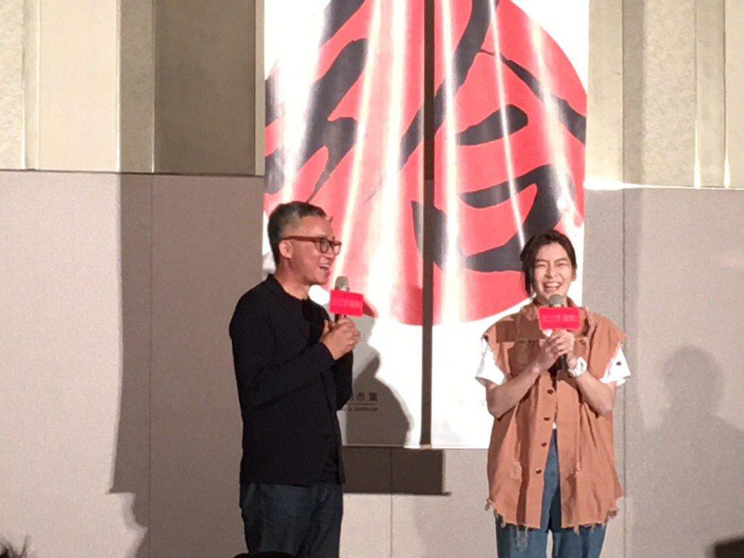 許常德(左)號召五四青年運動。圖/台灣自媒體社群產業發展協會提供