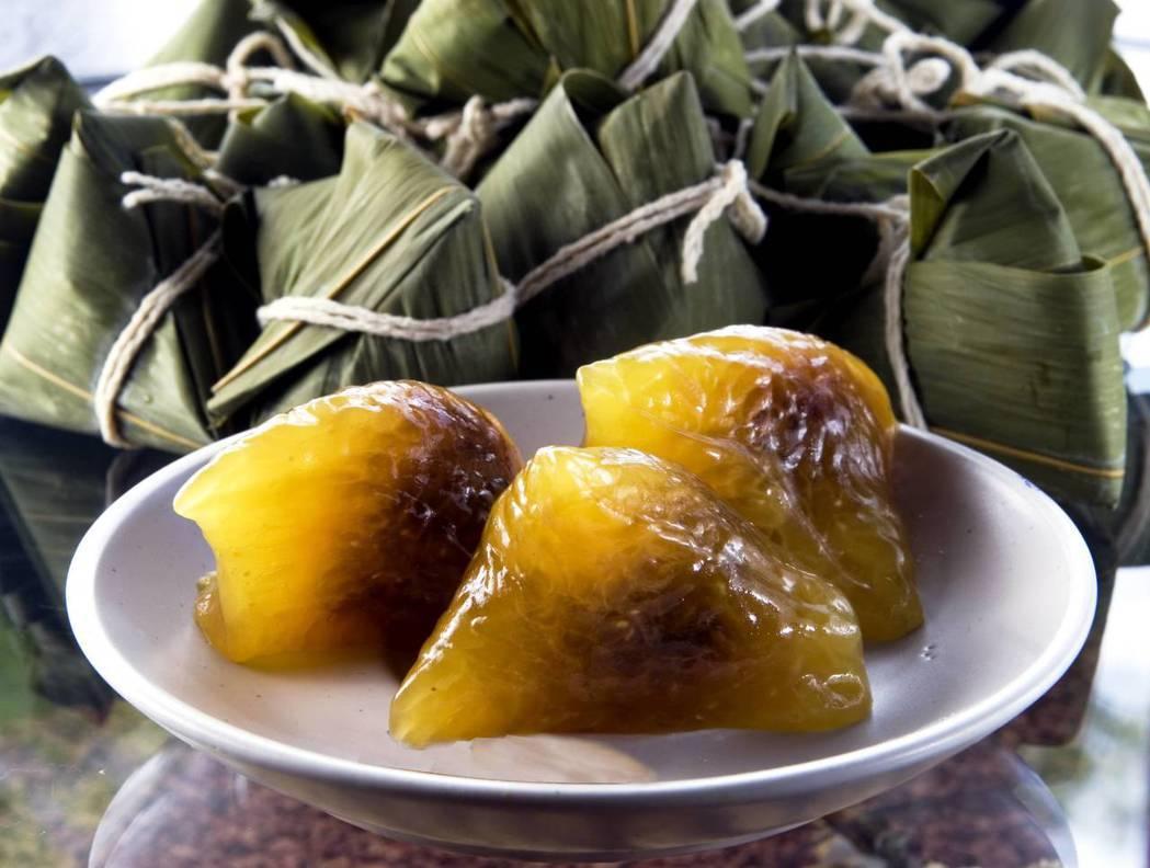 水晶紅豆粽。 圖/農委會提供