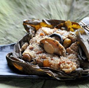 台南最貴粽子是台南飯店的「廣式干貝鮑魚粽」,1顆定價560元。 圖/台南飯店提供