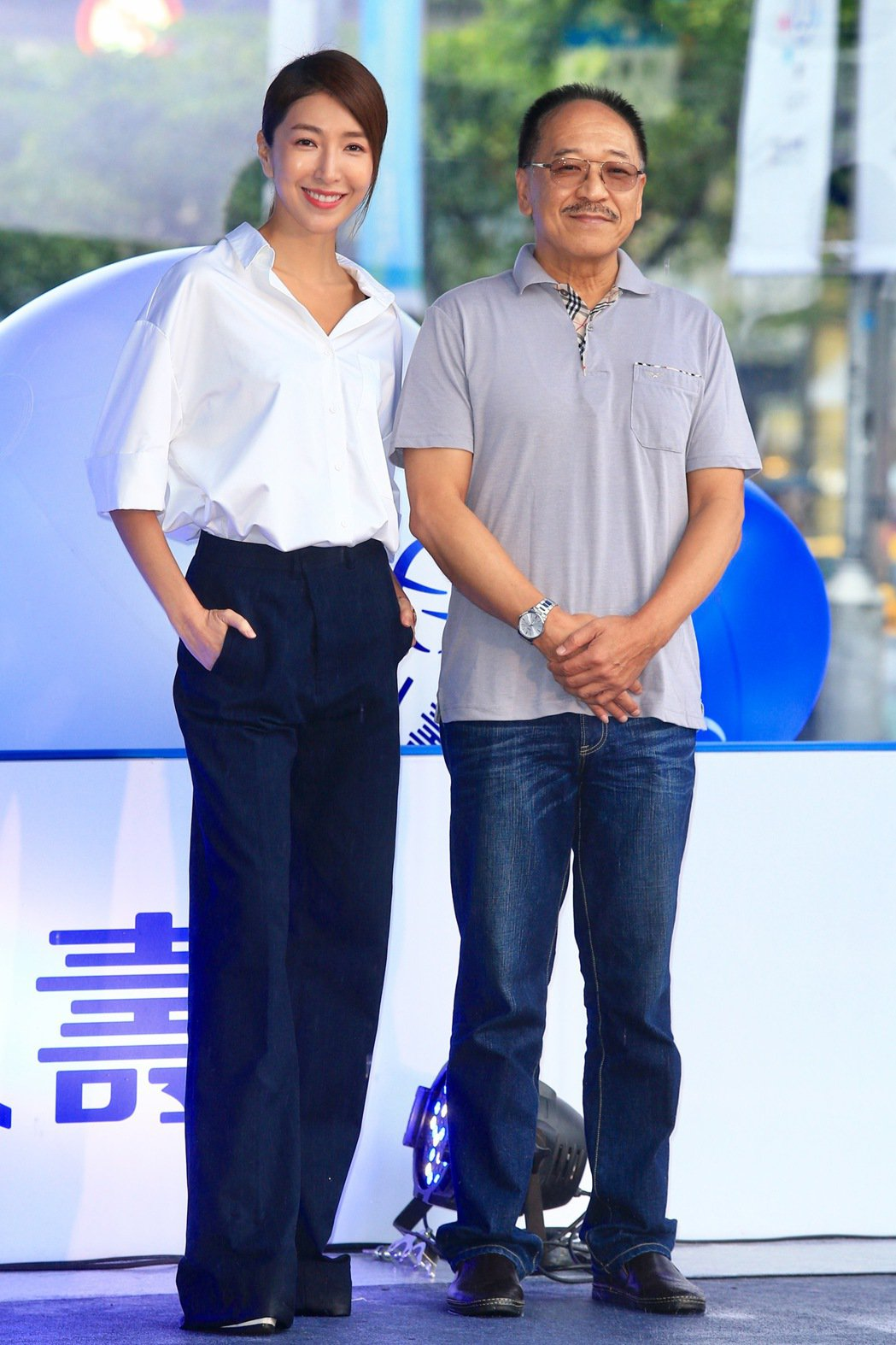 傅雷(右)與楊謹華(左)。記者林伯東/攝影