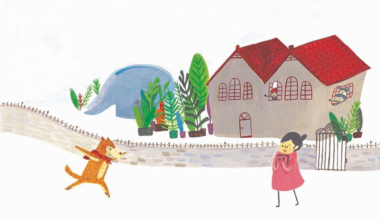 《交換一天》內頁,作者為廖書荻。 圖/小魯文化出版提供