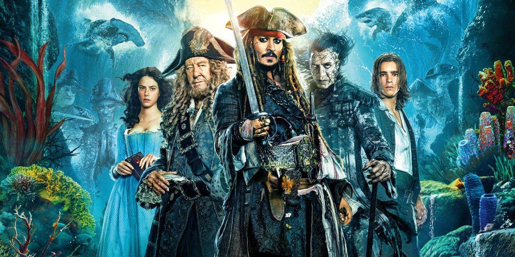 強尼戴普主演奇幻大片「神鬼奇航:死無對證」目前熱賣中。圖/迪士尼提供