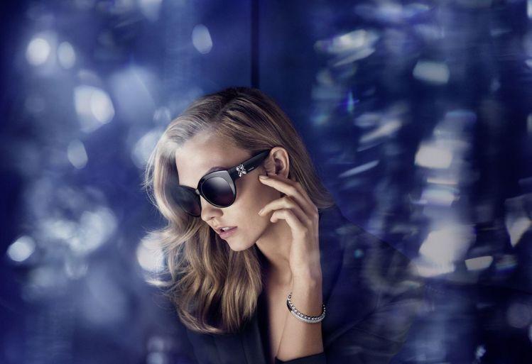 施華洛世奇今年春夏太陽眼鏡系列,強調結合了好萊塢華麗風與女性美。圖/Swarov...