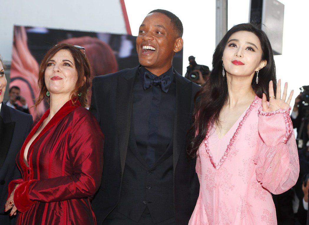華人女星范冰冰(右一)是本屆評審之一。圖/歐新社