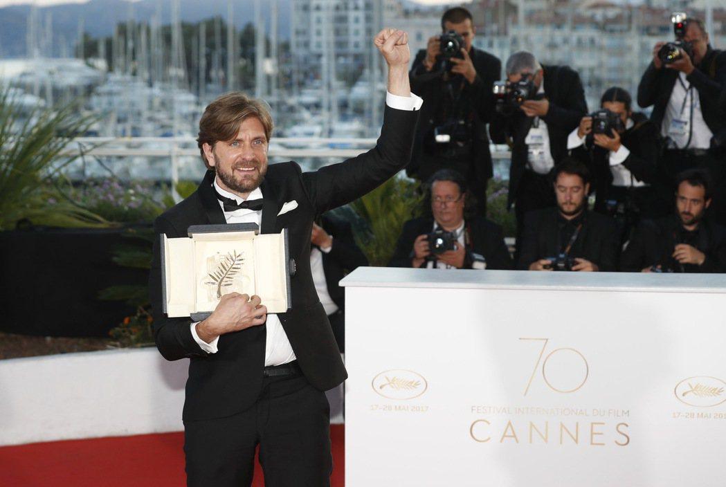 第70屆坎城影展今天舉行頒獎典禮,瑞典電影「自由廣場」(The Square)勇