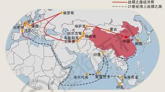 一帶一路示意圖。中國大陸官方統計,北京市2016年對「一帶一路」沿線國家直接投資...