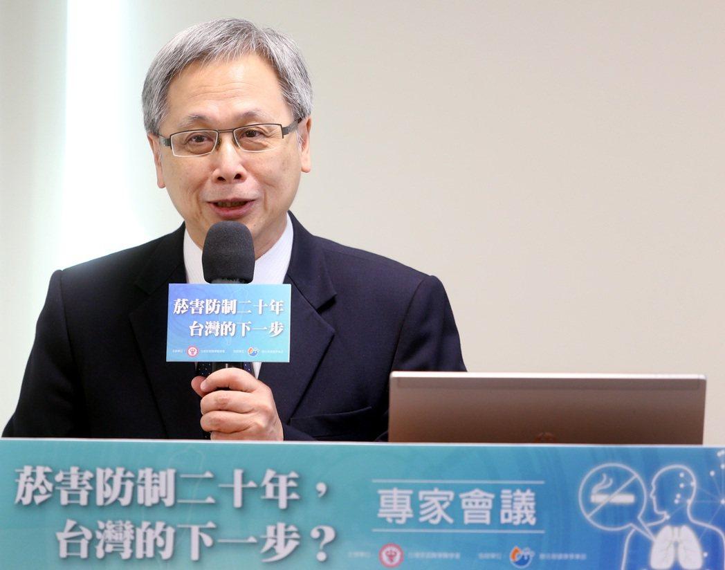 衛福部國健署長王英偉強調,對菸害防制方向不變、決心不變,將透過相關配套措施,提高...
