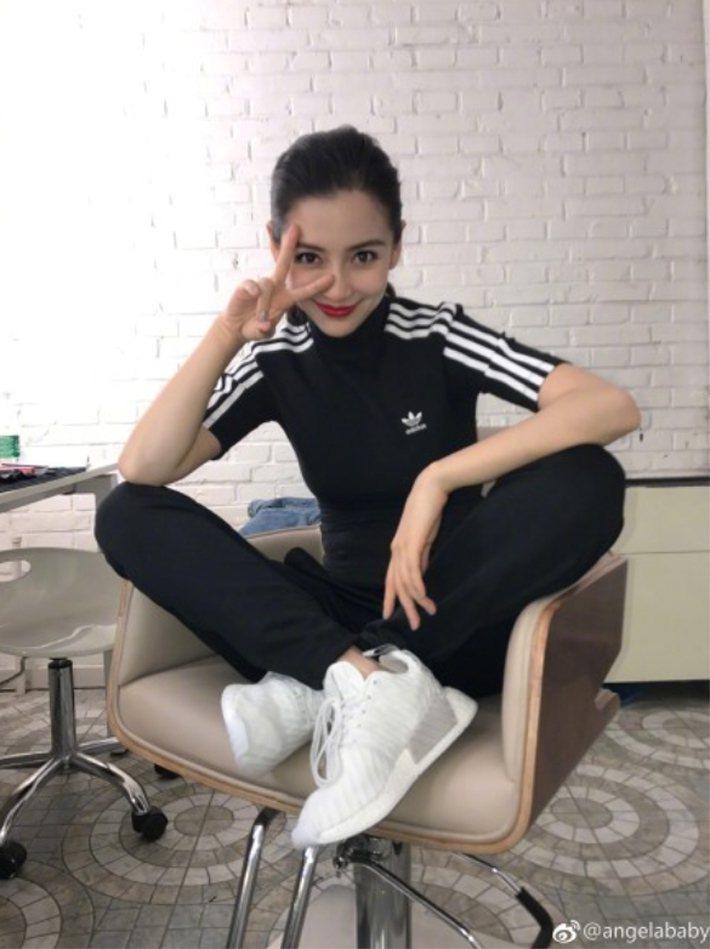 Angelababy也是adidas Originals的代言人。圖/摘自Ang...
