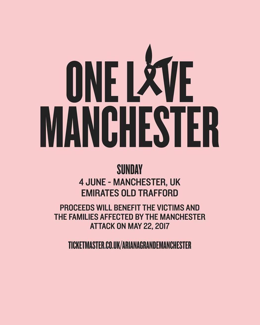 亞莉安娜將於6月4日重返英國曼徹斯特,舉辦眾星雲集的大規模演唱會。 圖/擷自亞莉...