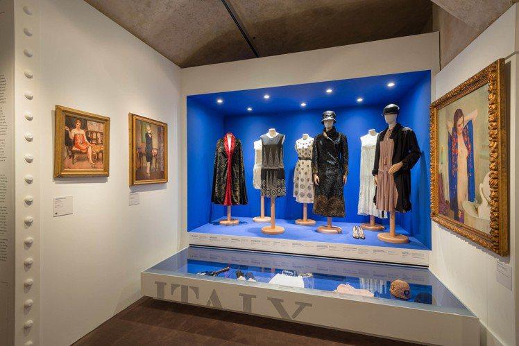 4號展廳《義大利女性》現場陳列。圖/Ferragamo提供