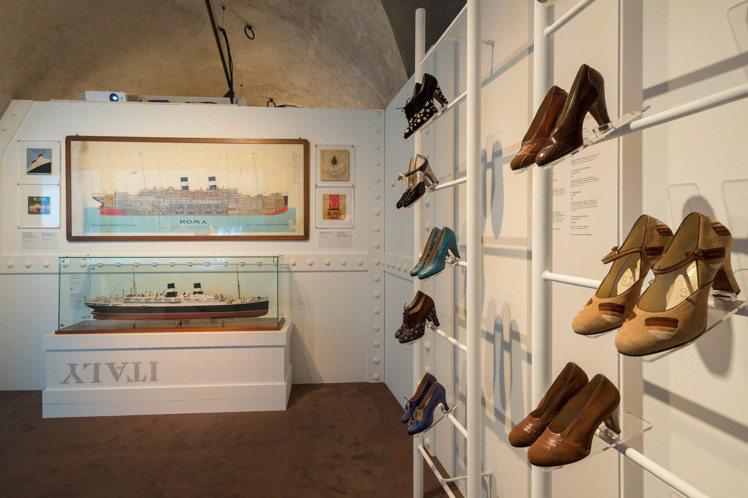 1號展廳《重返義大利》現場陳列。圖/Ferragamo提供