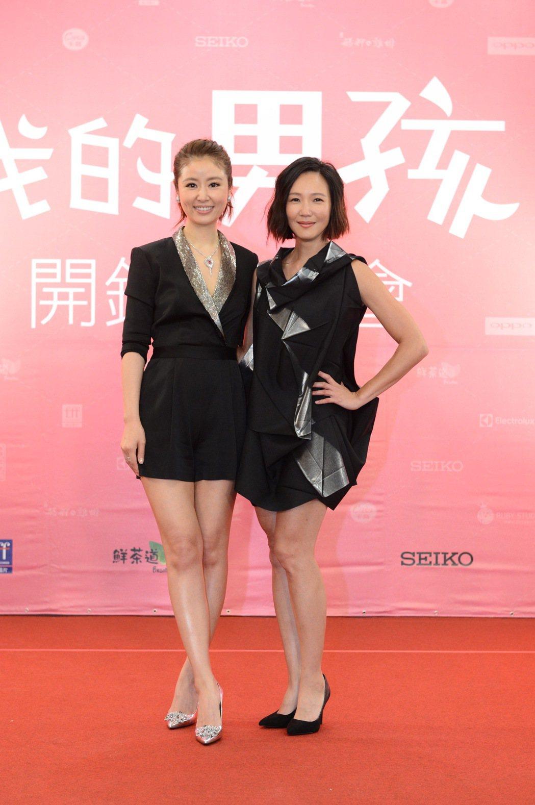 張本渝(右)與林心如在「我的男孩」中演姊妹。圖/八大提供