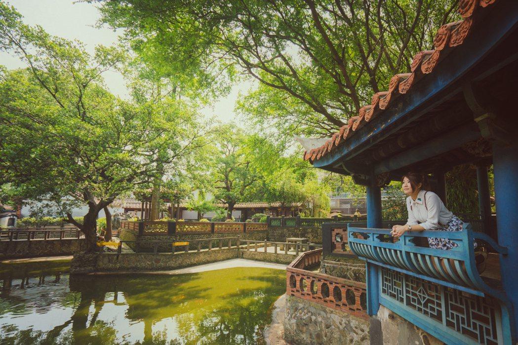 板橋林本源園邸是一座充滿古典風情的清代大宅,韓客也很感興趣。 圖/新北市觀旅局提...