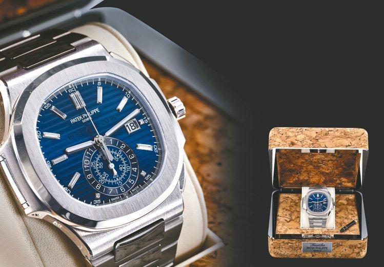 百達翡麗去年才推出的金鷹系列40周年限量白金自動上鍊計時表,不到一年時間就增值1...