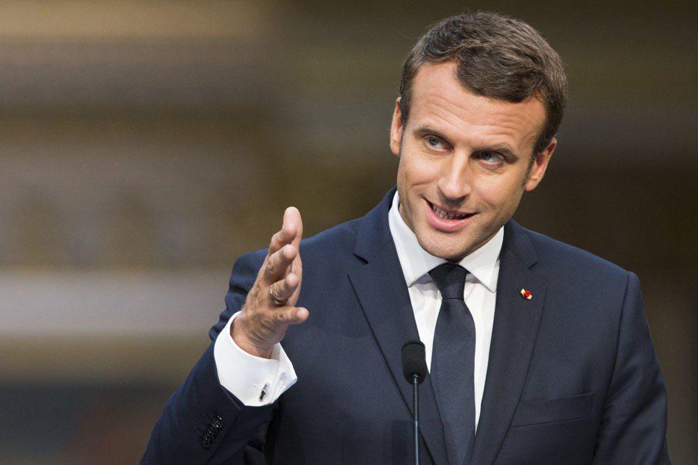 法國新任總統馬克宏。 圖/美聯社