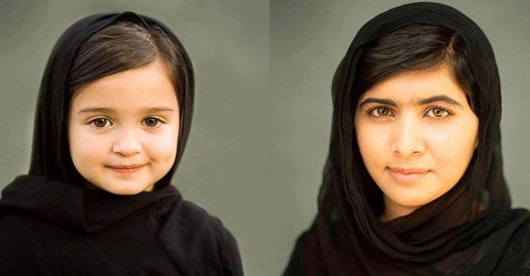 Scout Larson模仿諾貝爾和平獎得主馬拉拉(Malala Yousafz...