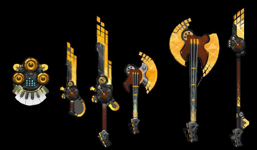 「超新星龐克之王」讓你華麗出場,再搭配帥到炸的音樂武器系列給與敵人暢快痛擊!