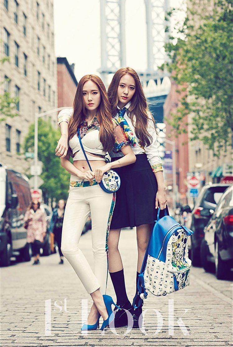 「韓國時尚姊妹花」Jessica和Krystal。圖/擷自twitter