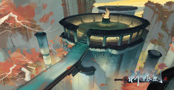「壺中界」場景原畫。