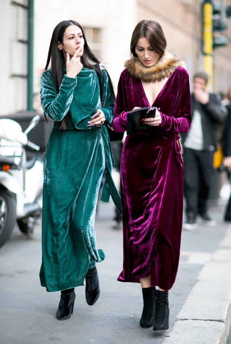 義大利籍街拍紅人Giorgia Tordini和Gilda Ambrosio。圖...