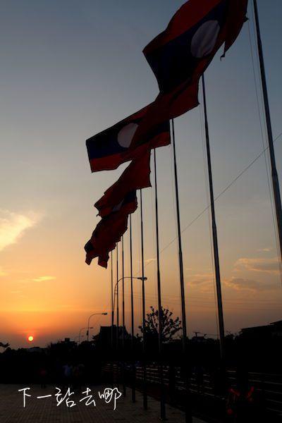 湄公河美麗夕陽。 賴勳毅/攝影
