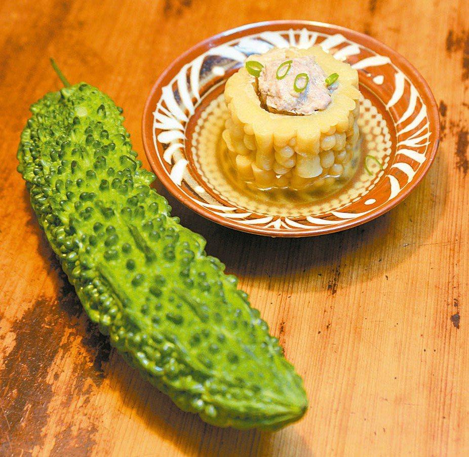 苦瓜鑲肉作法簡單,微苦中帶著甘甜,在炎熱的夏季裡食用,清熱退火。 圖/毛奇