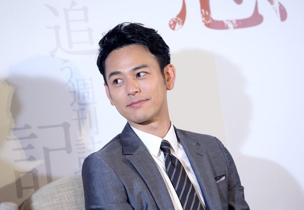 妻夫木聰來台宣傳《愚行錄》。記者余承翰/攝影