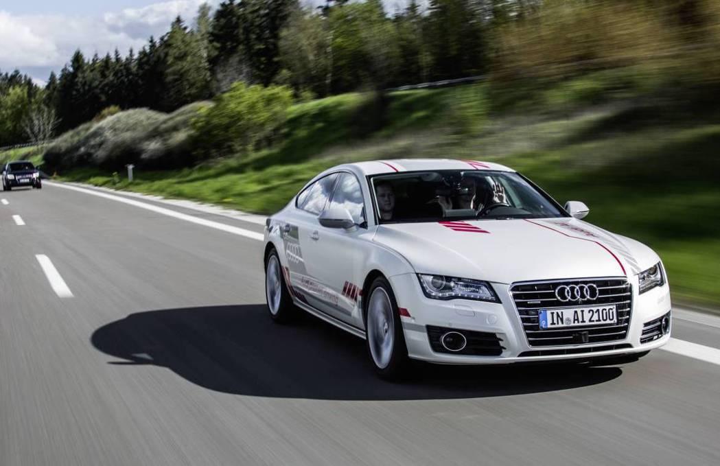 Audi A7自動駕駛測試車。圖/Audi提供