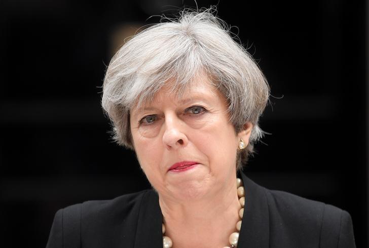 英國首相梅伊。圖/路透