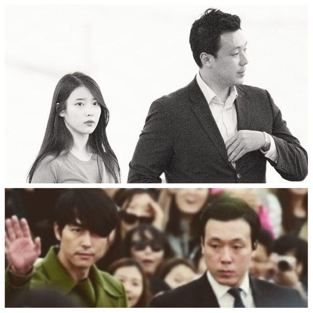 南韓才女歌手IU的朴姓保鑣,曾保護過不少大明星。圖/kunwoo.p IG