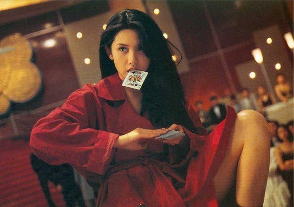 邱淑貞在電影「賭神2」中的經典形象。 圖/擷自微博