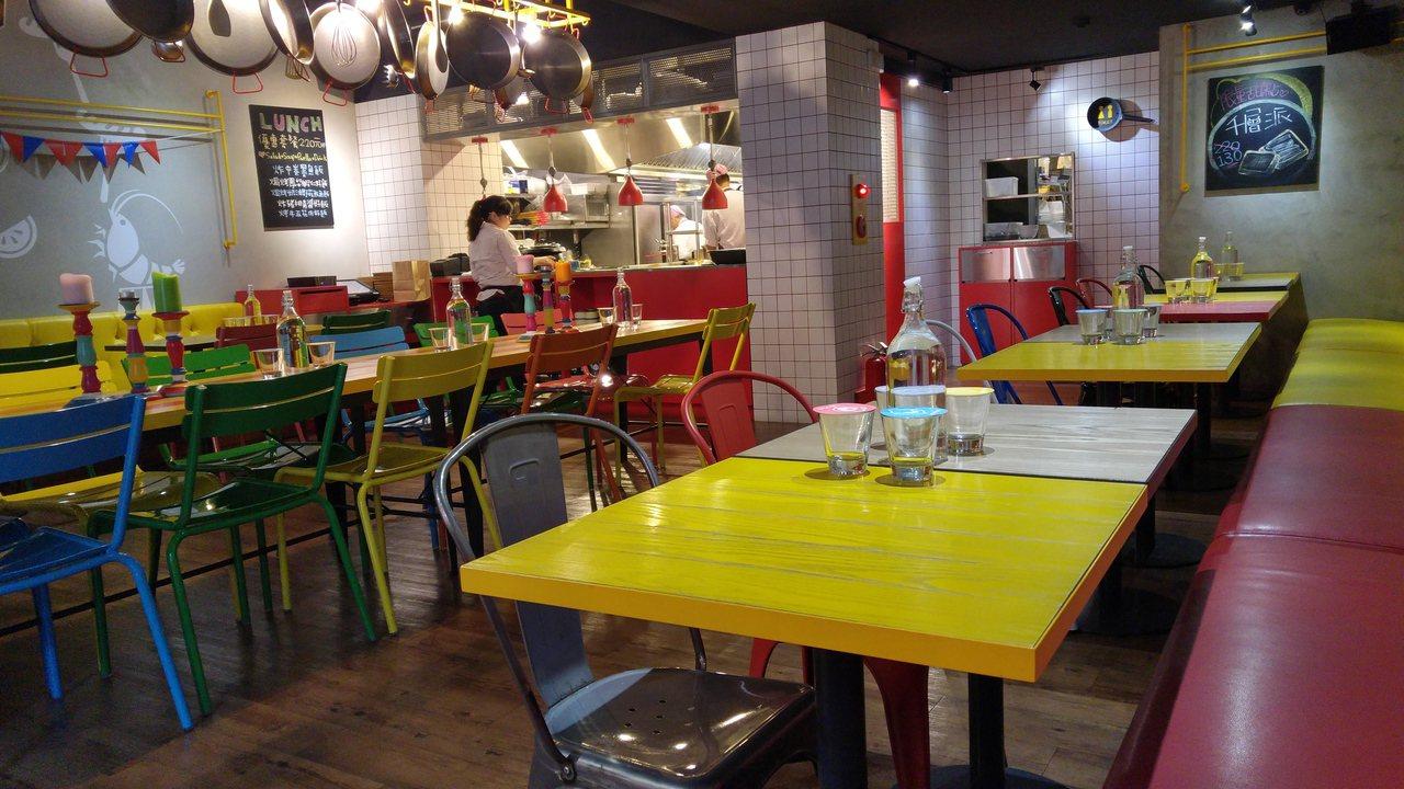 好飯食堂內部裝潢與設計走年輕活潑風。記者莊琇閔/攝影