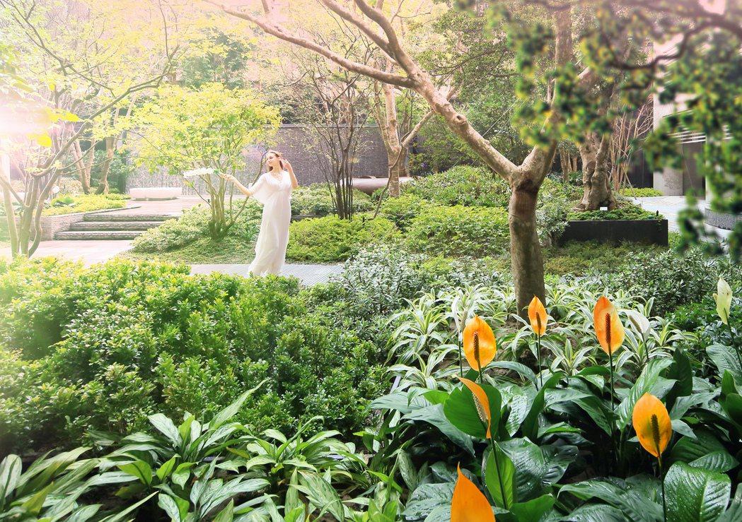 [三輝•歌劇苑]千坪花園宅實景拍攝。 三輝•歌劇苑提供