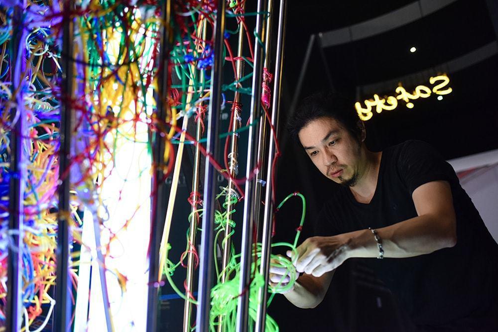 台灣新銳藝術家何政宏。圖/繽紛設計提供