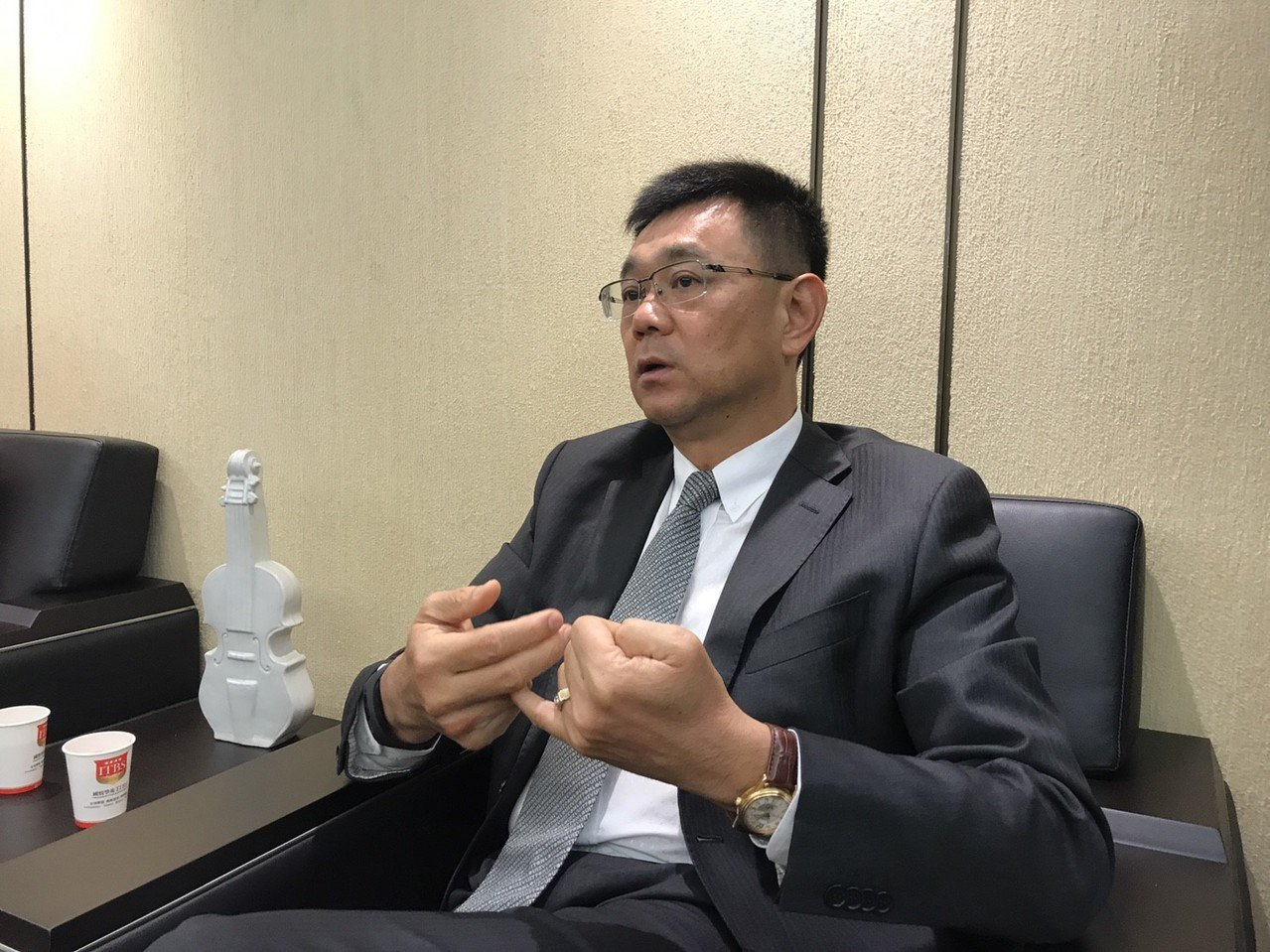 達麗建設董事長謝志長。記者游智文/攝影