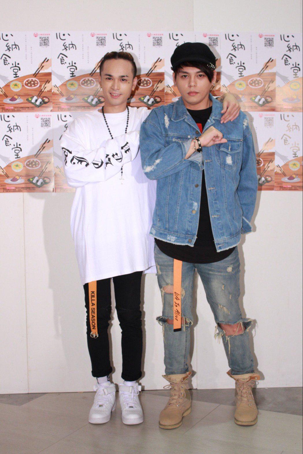 胡睿兒(左)和楊琳出席公益活動。圖/紅心字會提供