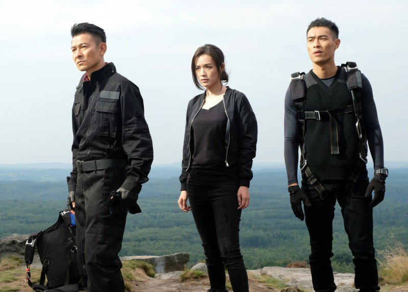 劉德華(左起)、舒淇及楊祐寧新片「俠盜聯盟」即將上映。圖/Catchplay提供