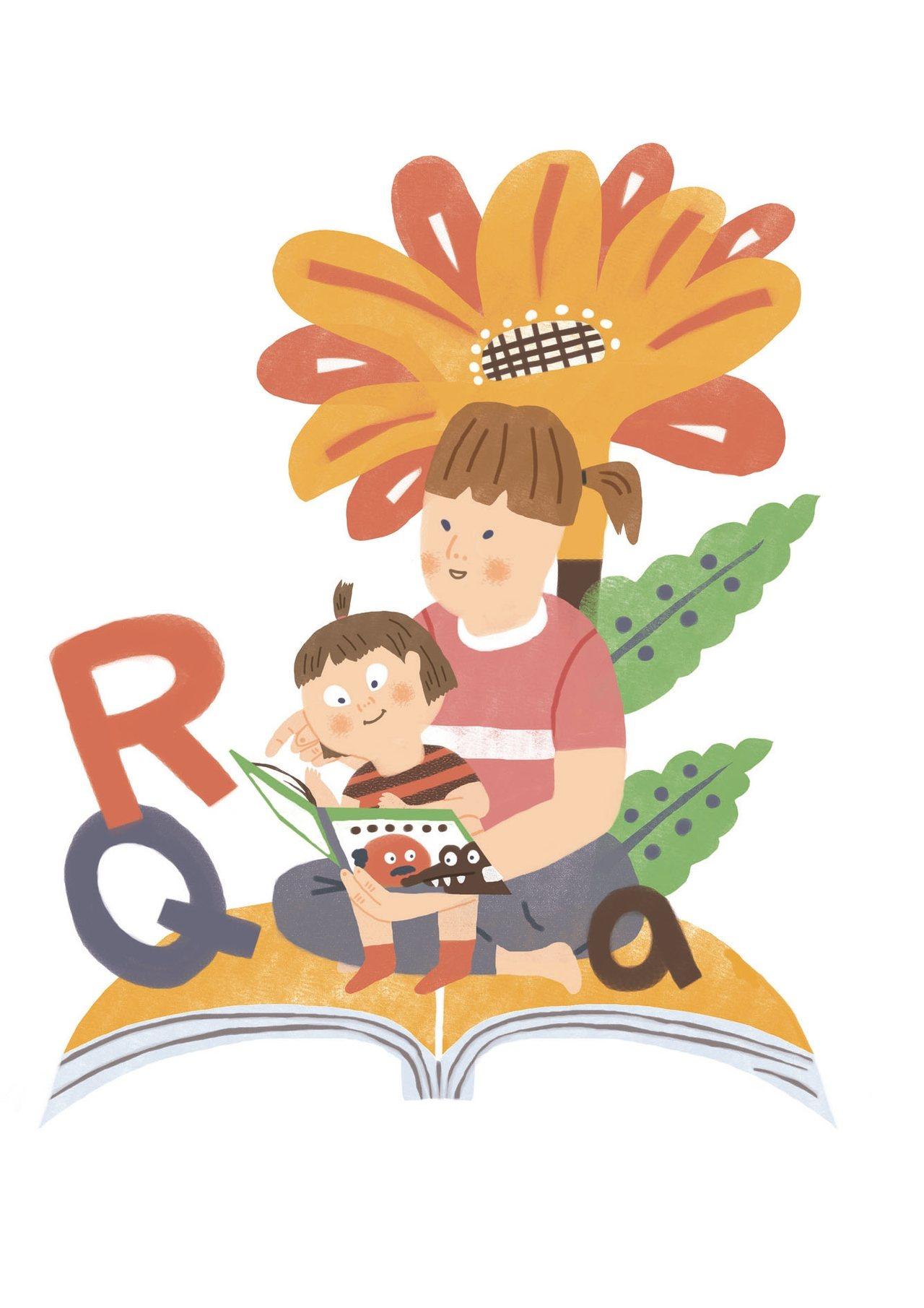 我在女兒念小學的時候,就開始進班講繪本故事,後來還跟幾個媽媽組成英文繪本的故事媽...