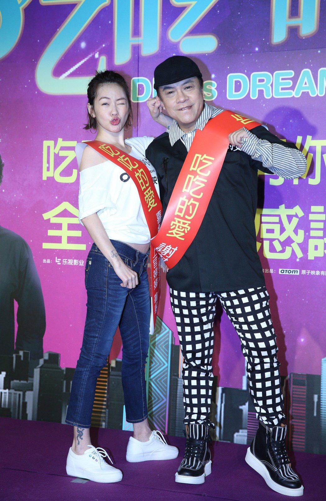 蔡康永導演(右)與徐熙娣(小S)為「吃吃的愛」展開謝票宣傳。記者陳瑞源/攝影