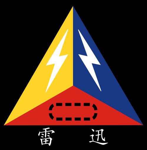 陸軍各裝甲旅的隊徽圖案都一樣,唯一差異是部隊代號,「迅雷」代表542旅。 圖/取...
