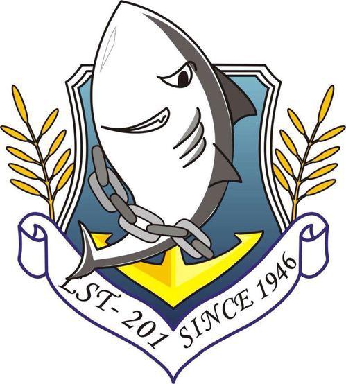登陸艦「中海」艦徽。 圖/取自臉書社團「老兵201中海軍艦」
