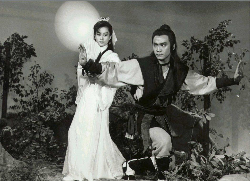 施思與爾冬陞主演的中視武俠劇「飛燕驚龍」,曾締造極佳收視。圖/報系資料照片