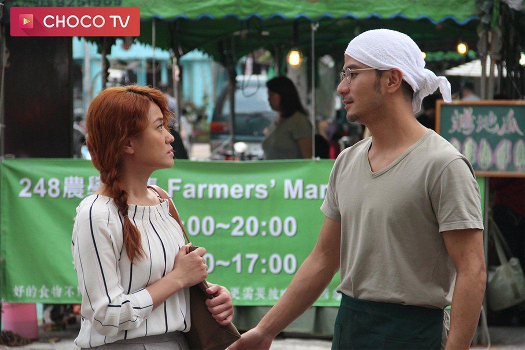 海裕芬首度和郭彥甫合作,讚對方唇型十分迷人。圖/CHOCO TV提供