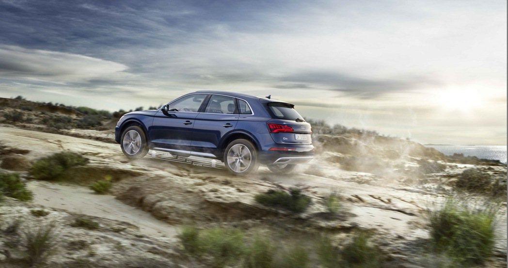 全新Audi Q5/SQ5車系搭載持續進化的Audi quattro智慧型四輪傳...